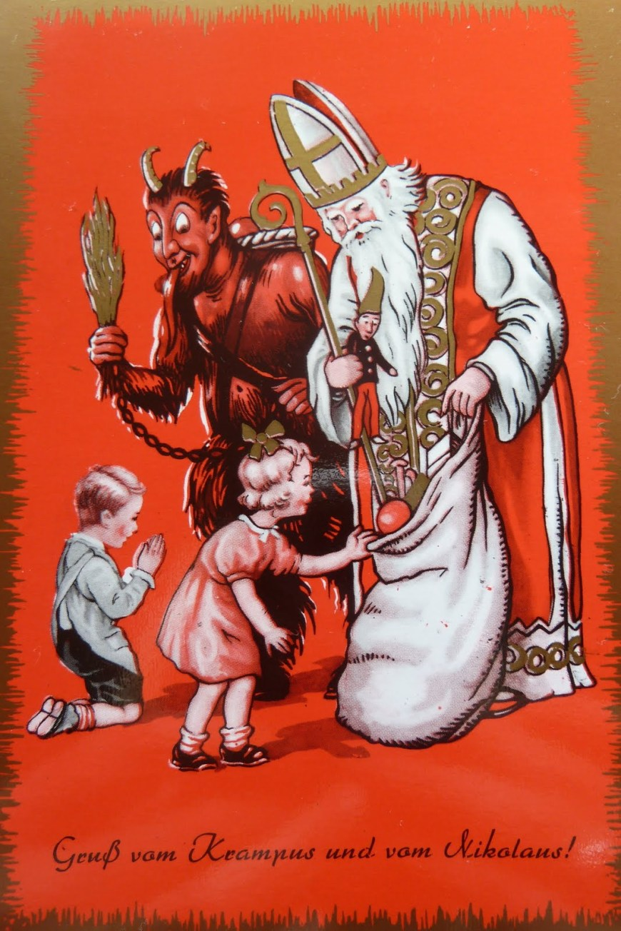 Krampus and Saint Nick